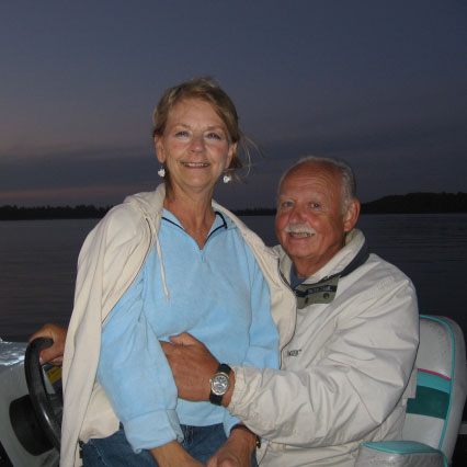 Gail and Bob, owners of Pineridge Resort on Deer Lake in Grand Rapids, Minnesota.
