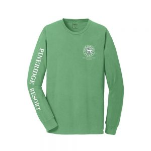 Pineridge Resort - Long Sleeve Vintage Soft Tee - Safari Green